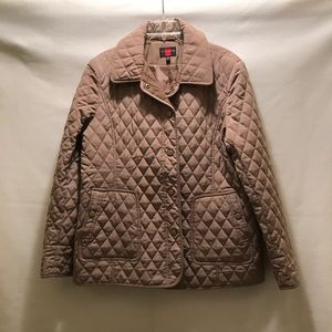 """Gallery Size XL Taupe """"Quilted"""" Pattern Jacket"""